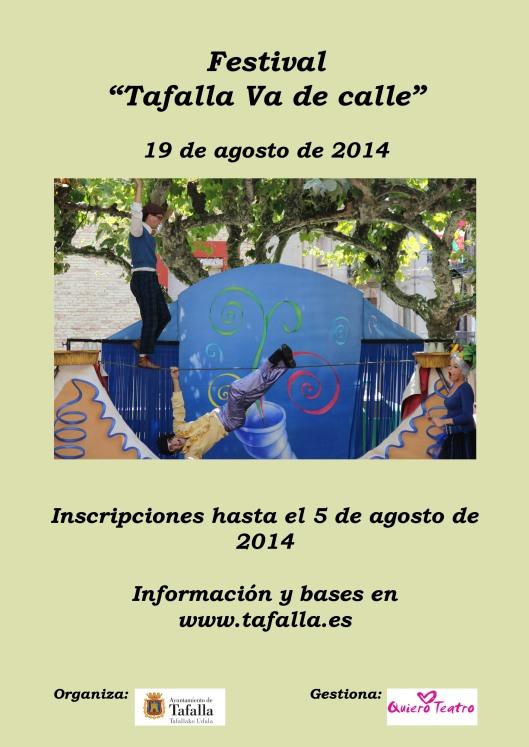 Cartel Tafalla Va de calle 2014 inscripciones