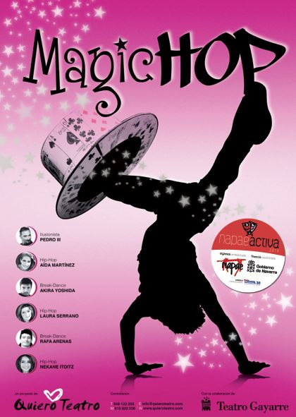 Magic Hop, de Quiero Teatro, 26-12-2014 en Mutilva y 30-12-2014 en Lodosa